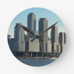 New York City Tall Buildings River View Clock