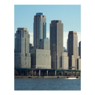 New York City Tall Buildings River View Letterhead