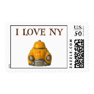 New York City Taxi Cab in Yellow Postage