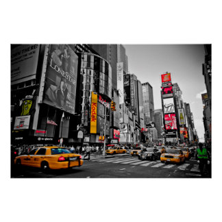 """""""New York City"""" Taxi Cabs City Hustle poster"""