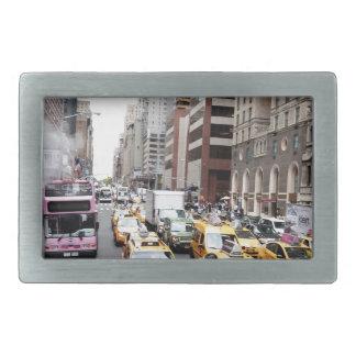 New York City Taxis Rectangular Belt Buckle