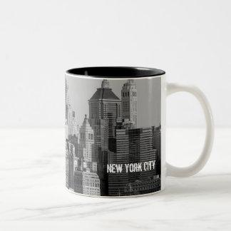 New York City Taza De Dos Tonos