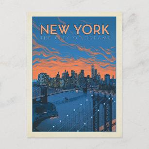 New York City   The City of Dreams Postcard