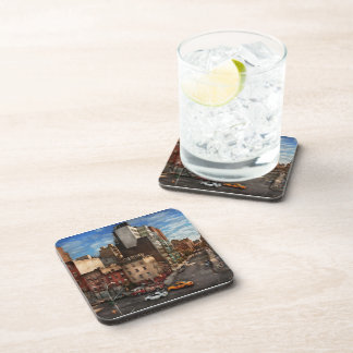New York - City - The corner of 10th Ave & W 18th Beverage Coaster