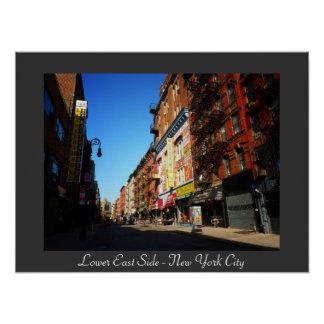 New York City - The Lower East Side Print