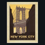 "New York City | The Manhattan Bridge Postcard<br><div class=""desc"">Anderson Design Group is an award-winning illustration and design firm in Nashville,  Tennessee. Founder Joel Anderson directs a team of talented artists to create original poster art that looks like classic vintage advertising prints from the 1920s to the 1960s.</div>"
