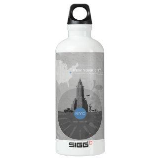 New York City theme Aluminum Water Bottle