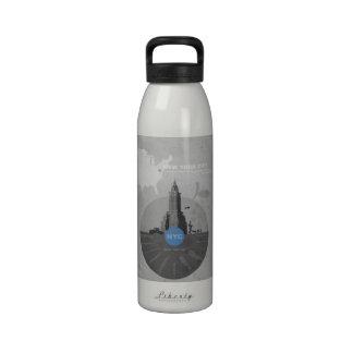 New York City theme Water Bottles