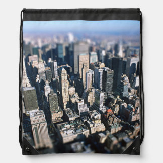 New York City Tilt Shift Drawstring Backpack