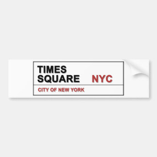 New York City Times Square Bumper Sticker