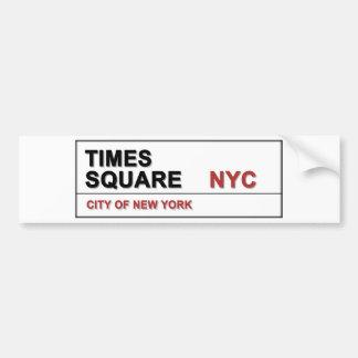 New York City Times Square Car Bumper Sticker
