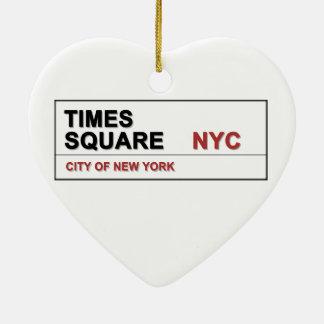New York City Times Square Ceramic Ornament