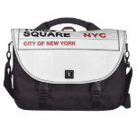 New York City Times Square Laptop Messenger Bag
