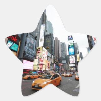 New York City - Times Square - los E.E.U.U. Calcomanías Forma De Estrellaes