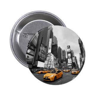 New York City - Times Square - los E.E.U.U. Pin Redondo 5 Cm