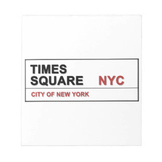 New York City Times Square Scratch Pad