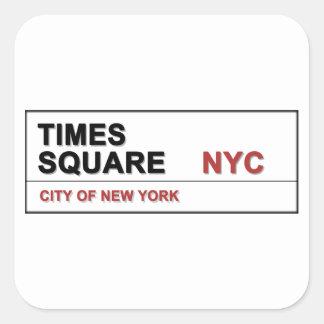 New York City Times Square Square Sticker