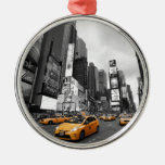 New York City - Times Square - USA Silver-Colored Round Decoration