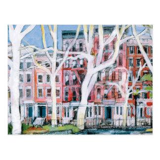New York City, Tompkin's Square Park in winter Postcard