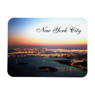 new york city  top of the world trade center rectangular photo magnet