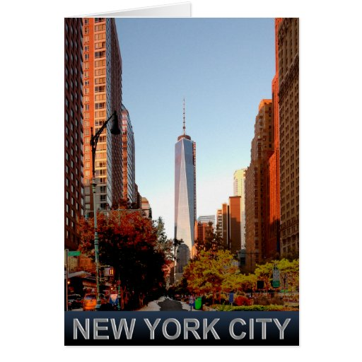 New York City Tower Greeting Card
