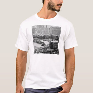 New York City Train on Elevated Railroad Yonkers T-Shirt