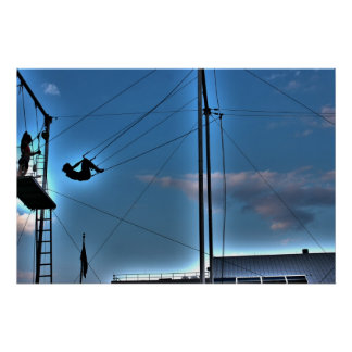 New York City Trapeze Artist @ Seaport Poster