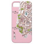 New York City travel map iphone case iPhone 5 Cases