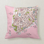 New York City travel map pillow present