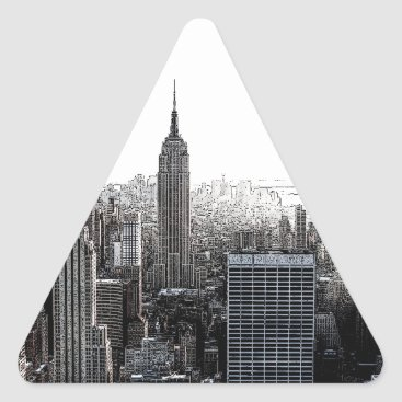 USA Themed New York City Triangle Sticker