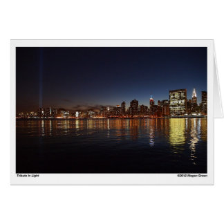 New York City - Tribute in Light Card