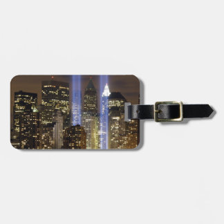 New York City Tribute Lights Luggage Tag