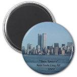 """NEW YORK CITY"", ""Twin Towers"" New York City, N... Fridge Magnet"