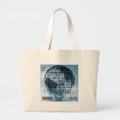 New York City Unisphere Globe Canvas Bag