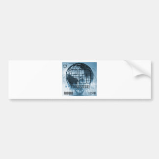New York City Unisphere Globe Bumper Sticker