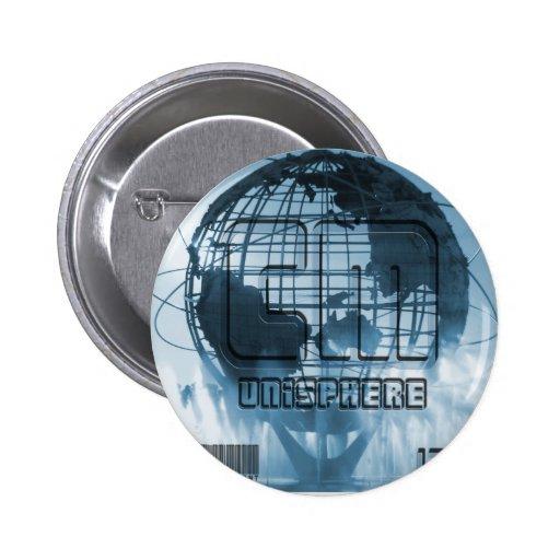 New York City Unisphere Globe Button