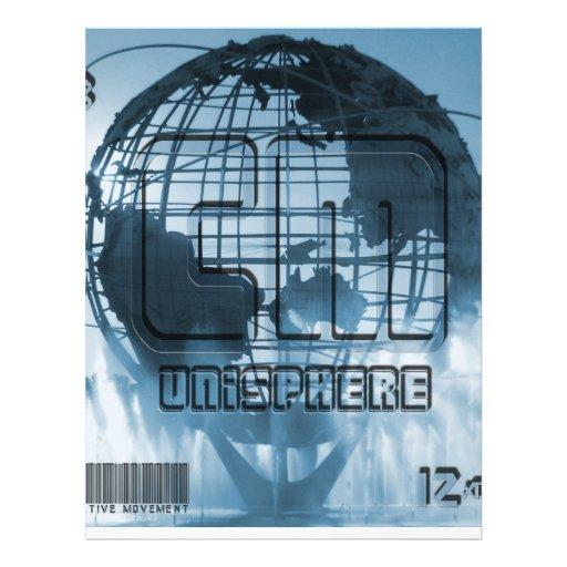 New York City Unisphere Globe Personalized Letterhead