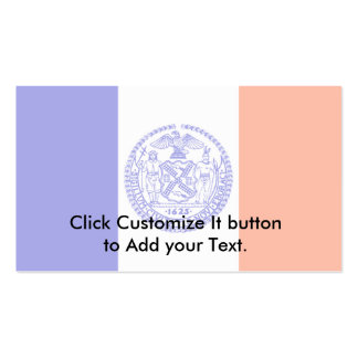 New York City, United States flag Double-Sided Standard Business Cards (Pack Of 100)