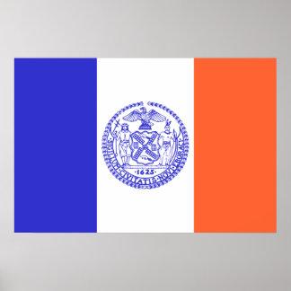 New York City, United States flag Poster
