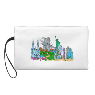 New York City - United States of America.png Wristlet Clutch