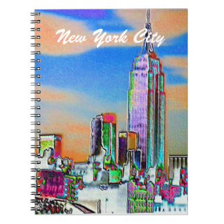 New York City USA Spiral Note Book