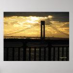 New York City Verrazano bridge photography poster