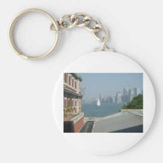 New York City View of the Bay Basic Round Button Keychain