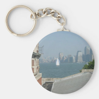 New York City View of the Bay Keychain