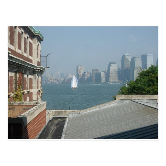 New York City View of the Bay Postcard