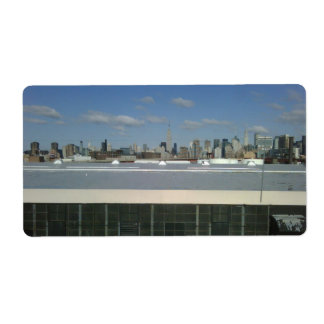 New York City View Personalized Shipping Labels
