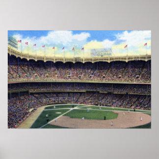 New York City Vintage Baseball 1930 Poster