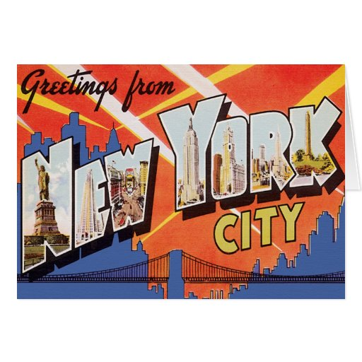 New York City Vintage Travel Greeting Cards