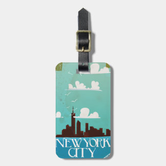 New York City vintage travel poster Luggage Tag