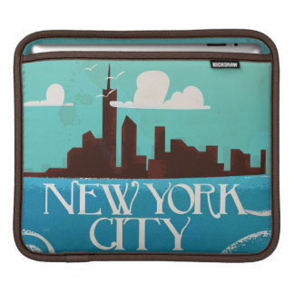 New York City vintage travel poster Sleeve For iPads